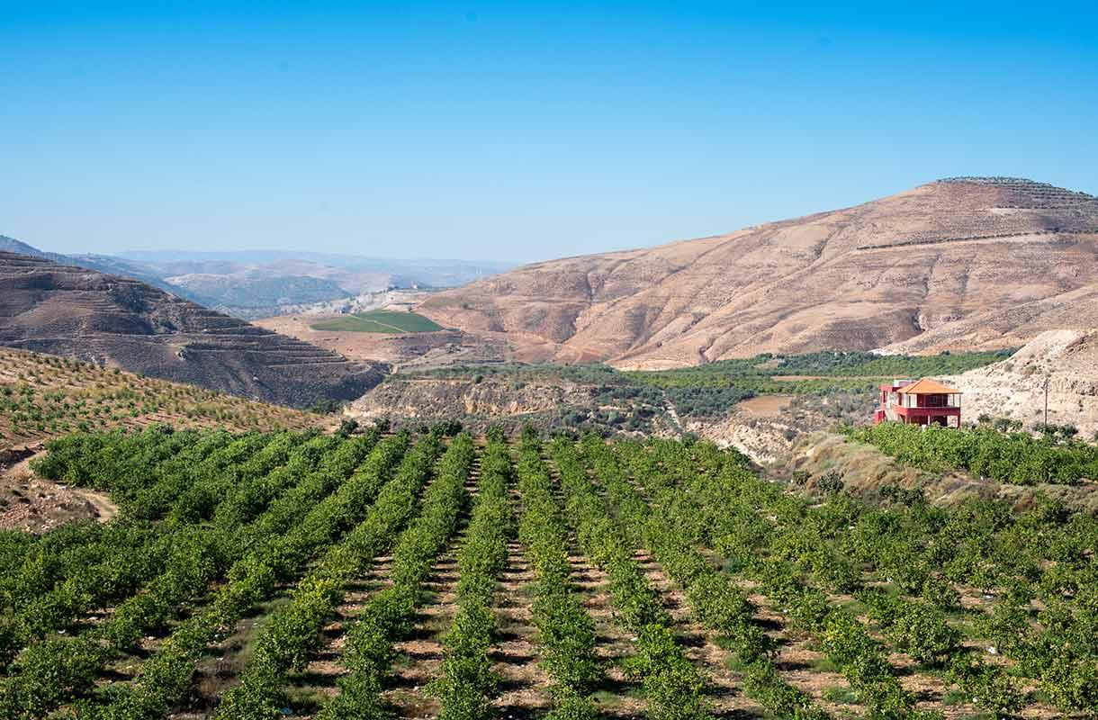 Maisema Jordaniassa