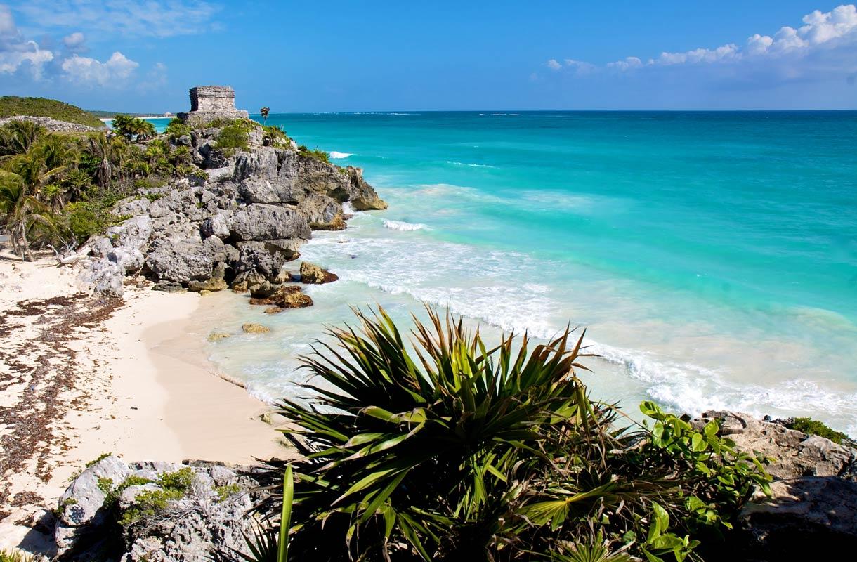 Tulumin ranta Meksikossa