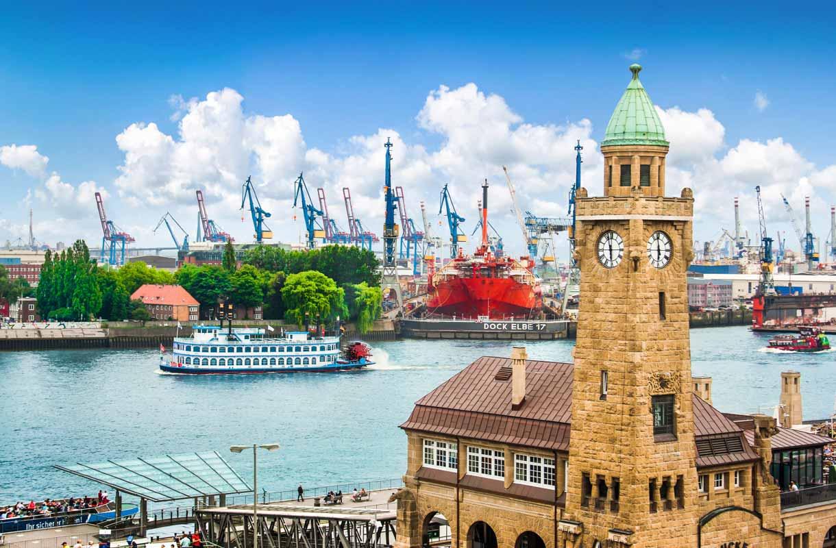 Vehreä Hampuri kannattaa kokea Saksan-matkalla.