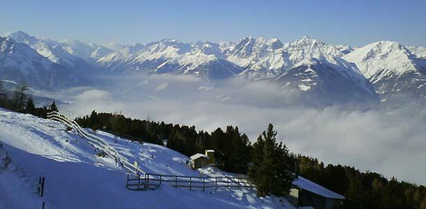 Lumilomailua Innsbruckissa