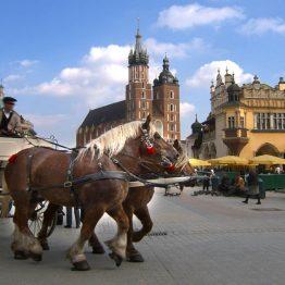 Hevoskärryt Krakovassa