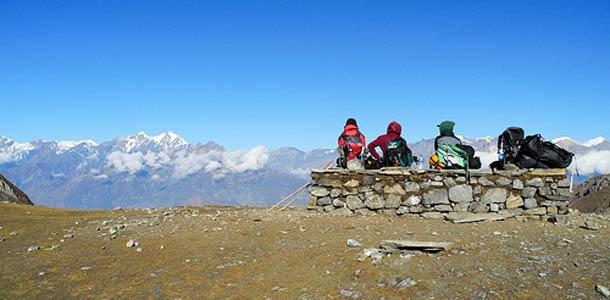 Nepal sijaitsee Himalajan vuoristossa