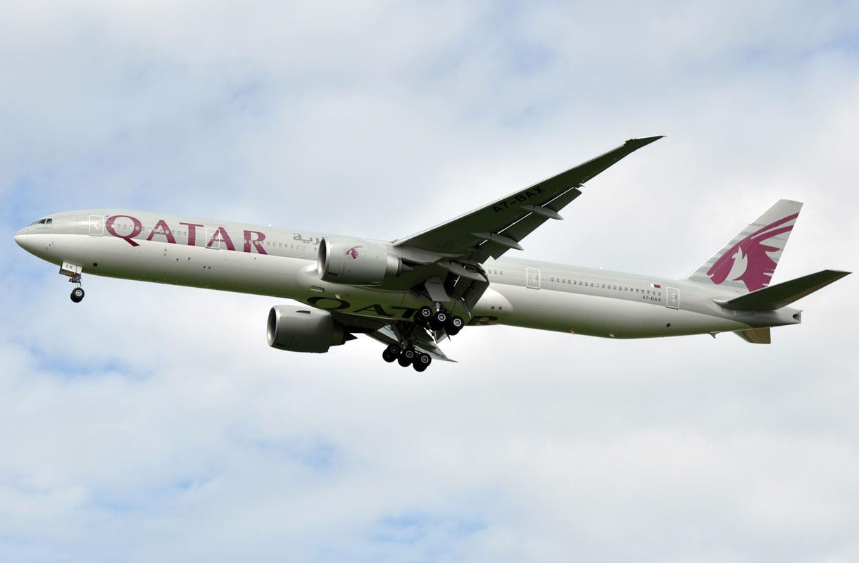Qatar Airways on arvostettu lentoyhtiö.