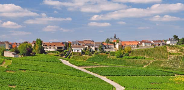 Cramantin kylä Champagnessa