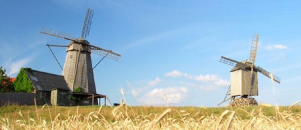 Tuulimyllyjä Saarenmaalla