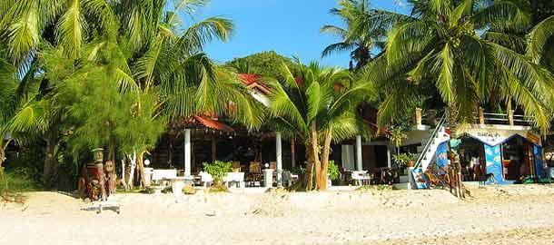 Majapaikka rannalla Thaimaassa