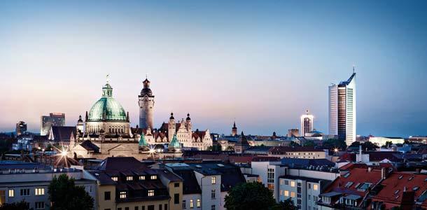 Maisema Leipzigissa