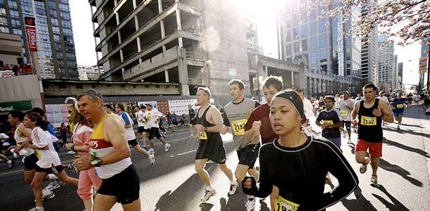 Juoksijat Vancouverissa