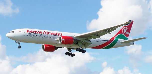 Kenya Airwaysin lentokone