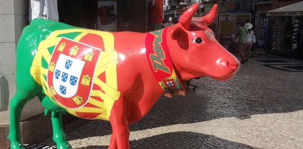 Lagosin ostoskadulla voi tavata lehmän