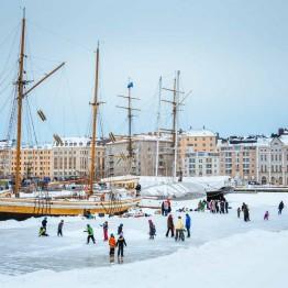 Helsingin talvet ovat vähälumisia.