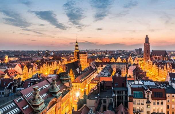 Wroclawin keskusta
