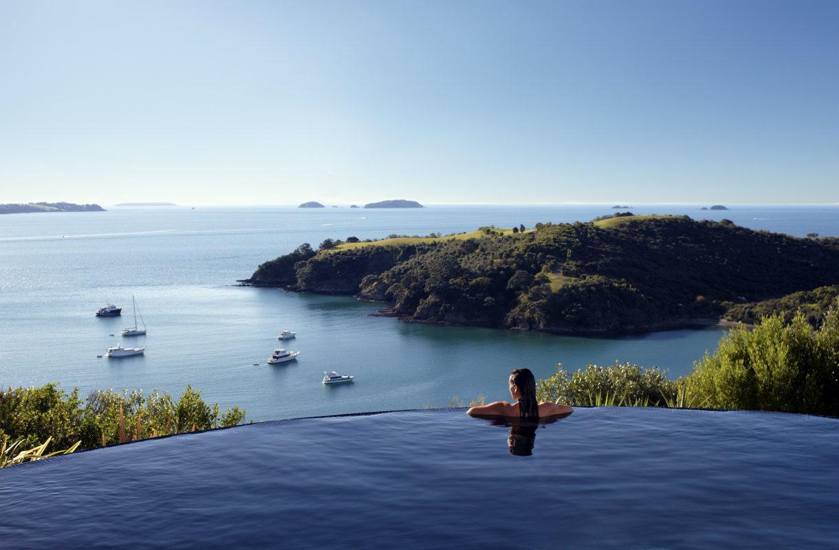 Delamore Lodgen uima-allas Uudessa-Seelannissa