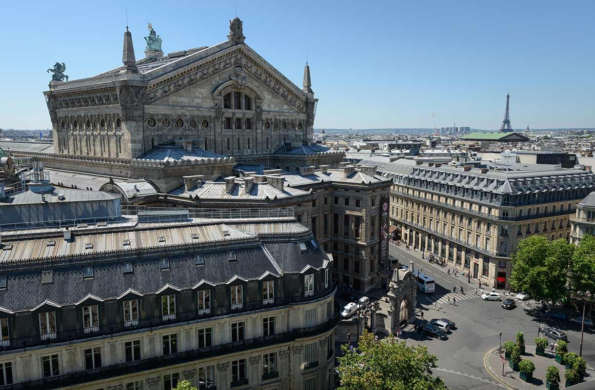 Näkymä Galeries Lafayetten terassilta
