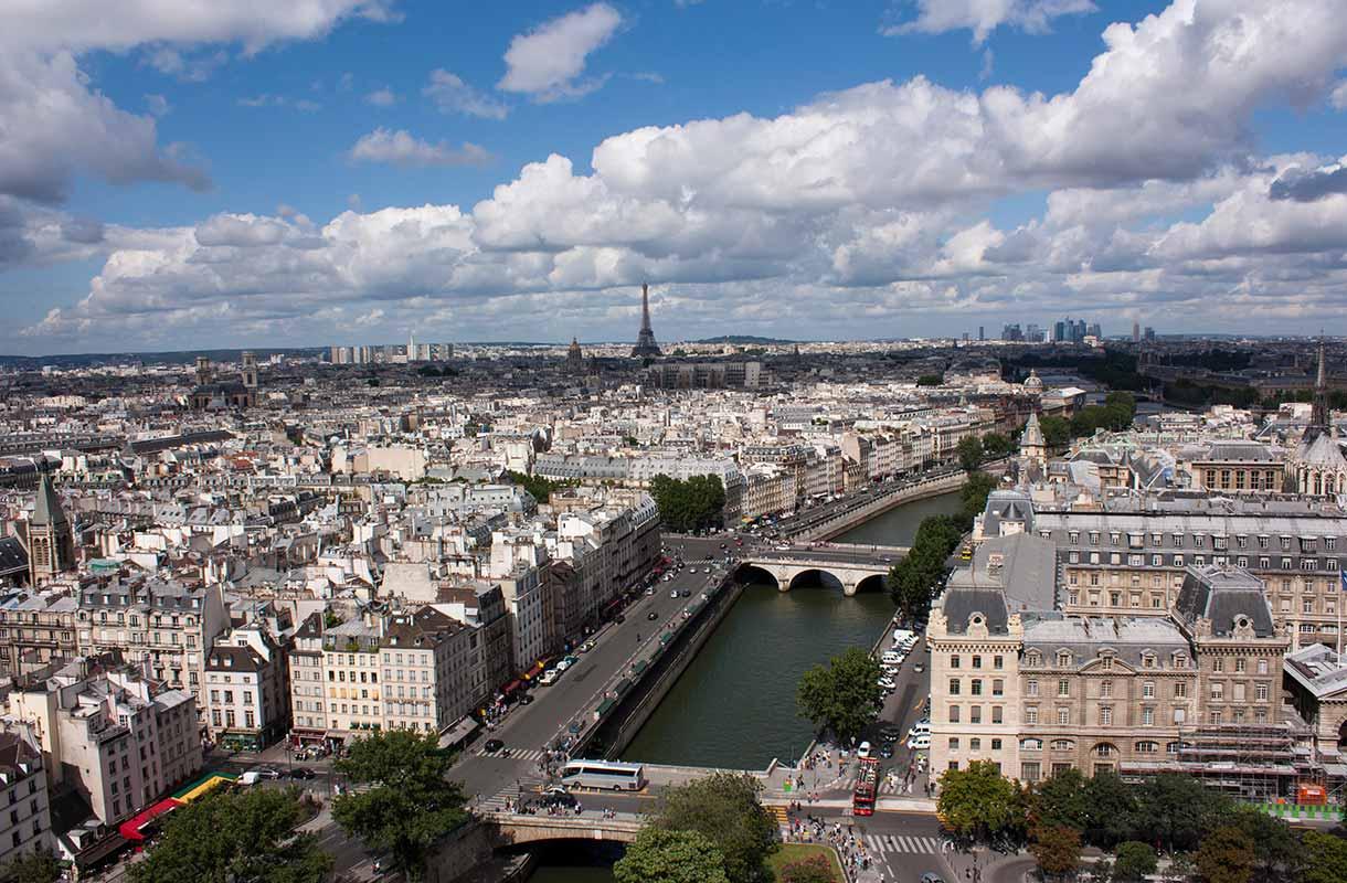 Näkymä Notre-Damen katedraalista