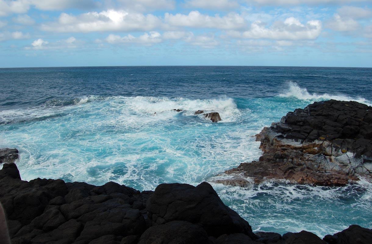 Havaijin vaarallinen allas Queen's Bath