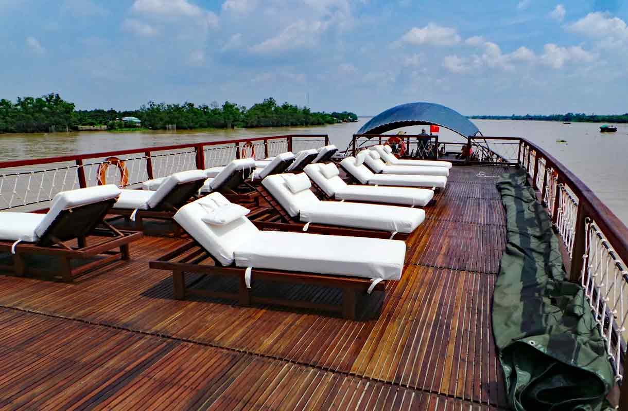 Risteilylaiva Vietnamin Mekong-joella