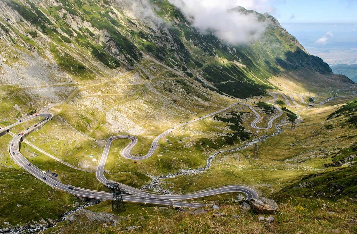 Transfagarasan-reitti Romaniassa