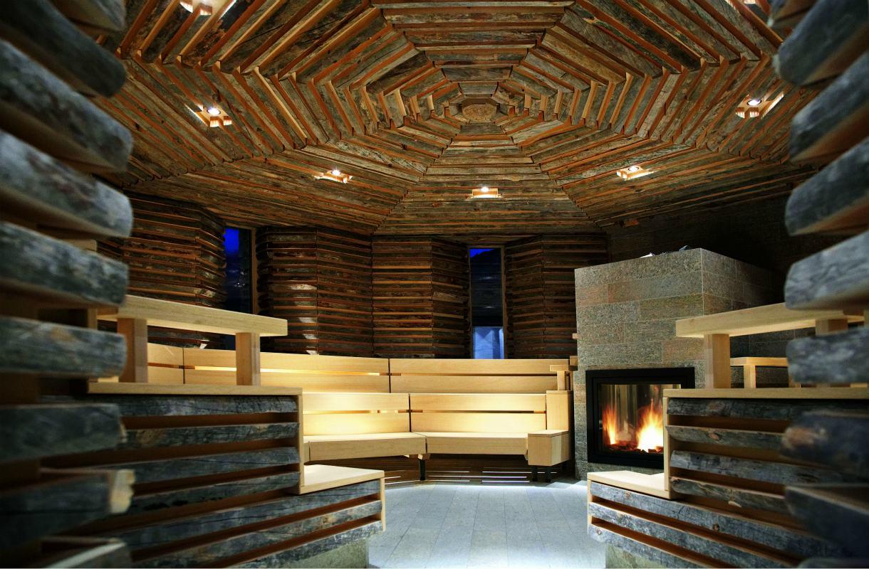 Tschuggen Bergoase -kylpylä Sveitsissä