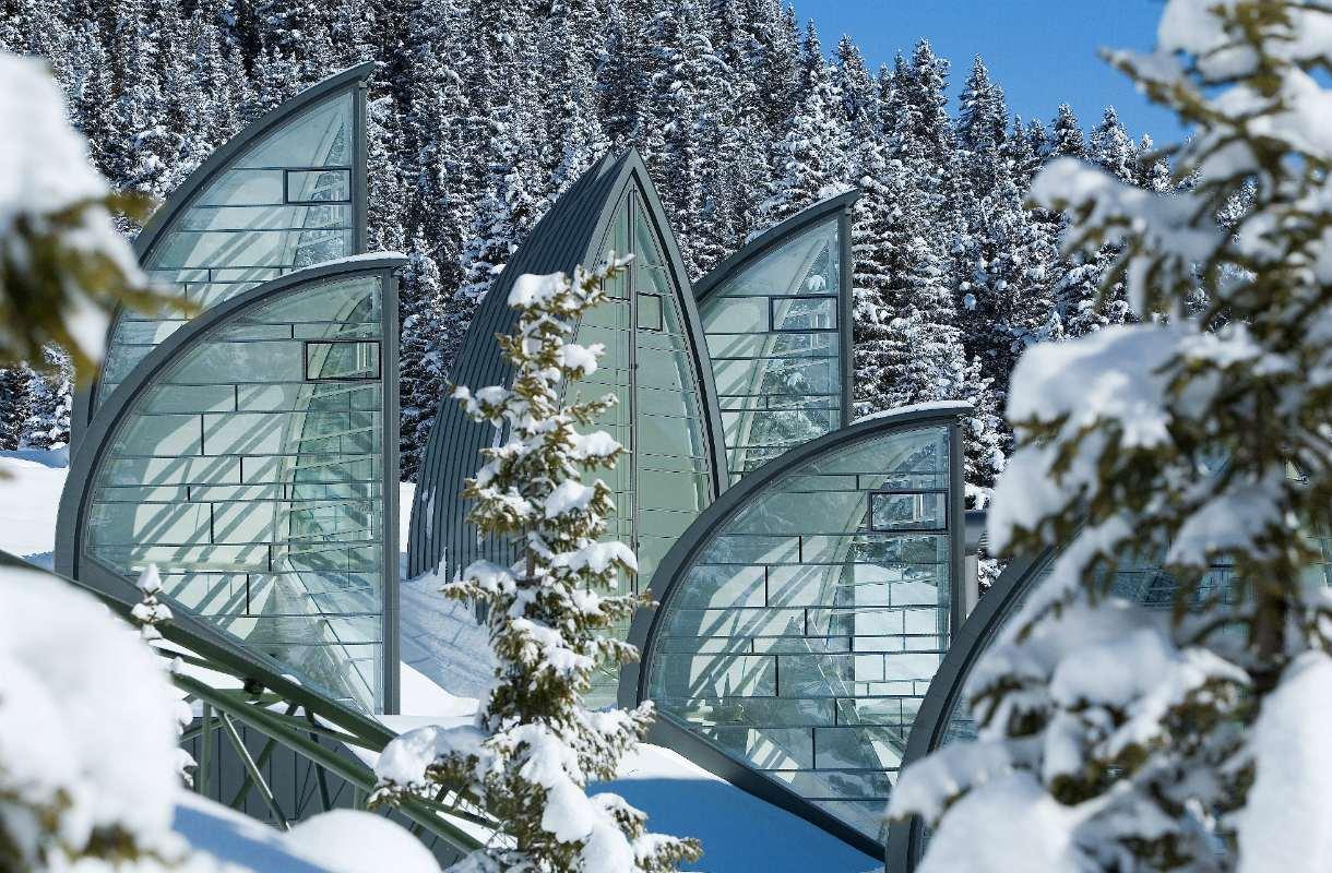 Sveitsin Arosa talvella