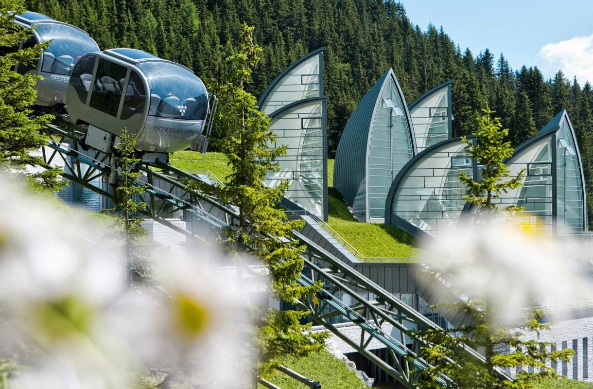 Upea kylpylä Sveitsin Arosassa