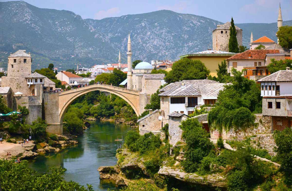 Bosnian kaunein kaupunki Mostar
